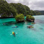 Snorkeling and sea kayaking in Palau's rock islands