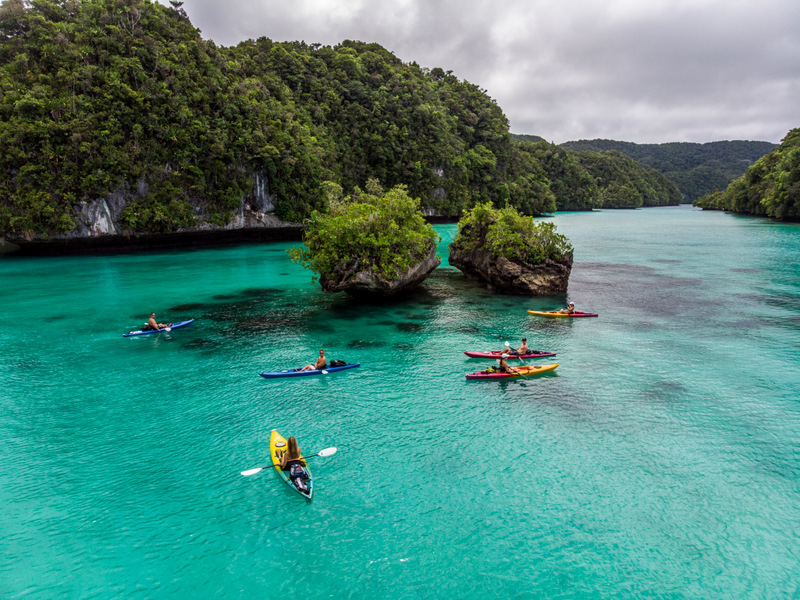 Snorkeling and sea kayaking in Palau's rock islands