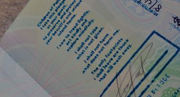 The green pledge you have to sign in your passport upon arrival - Palau Pledge