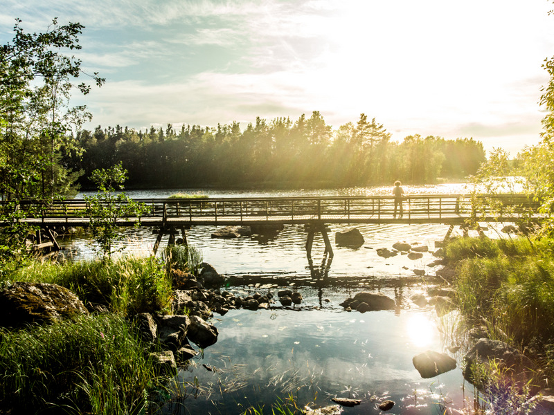 Wandering routes in the town of Varkaus in Saimaa - Road Trip in Saimaa