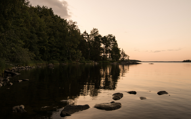 Colorful sunrises at Lake Saimaa -  Road trip in Saimaa