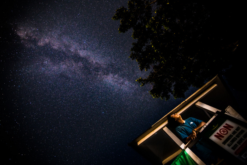 Photograph of the milky way in Negril, Jamaica