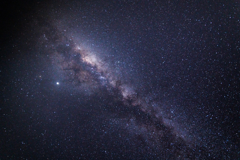 Clean view of the milky way from my balcony at Jake's Resort in south Jamaica