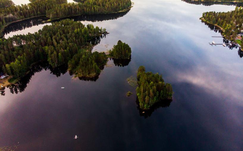Multicolored sunrises at Lake Saimaa - Road trip in Saimaa