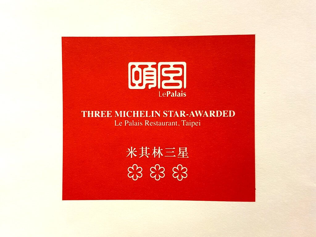 Le Palais was awarded three michelin stars in 2018 and 2019