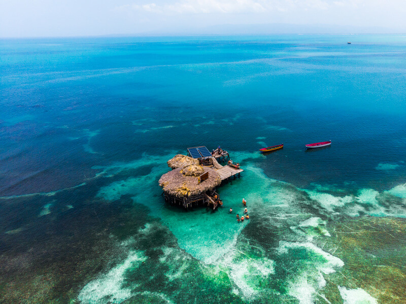 Aerial view of Floyd´s Pelican Bar