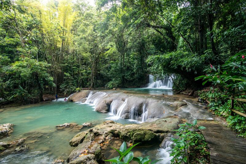 YS Falls in Jamaica - Road trip in Jamaica