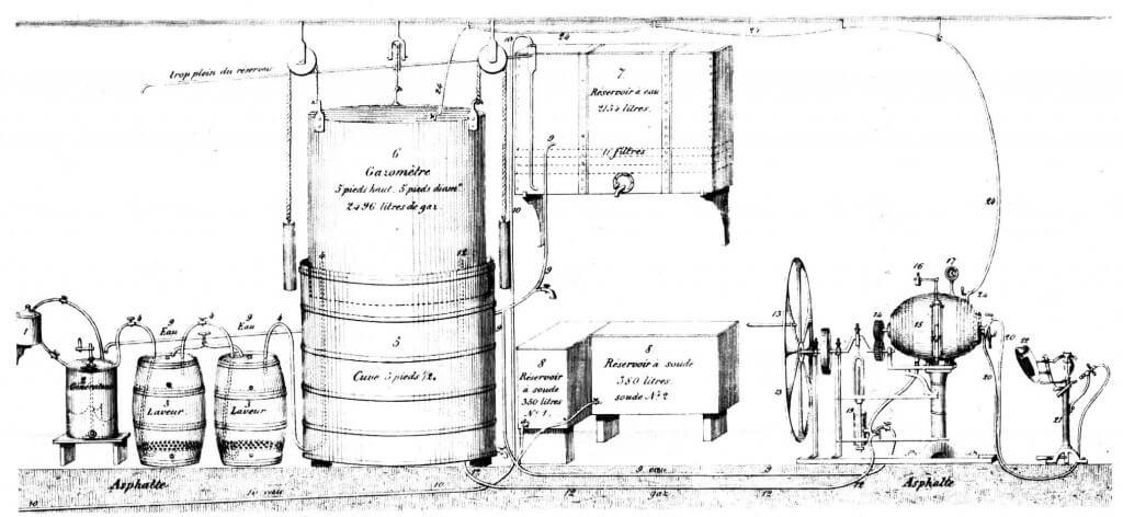 "Sketch of Jacob Schweppe's carbonation machine. Also known as ""Geneva Apparatus"""