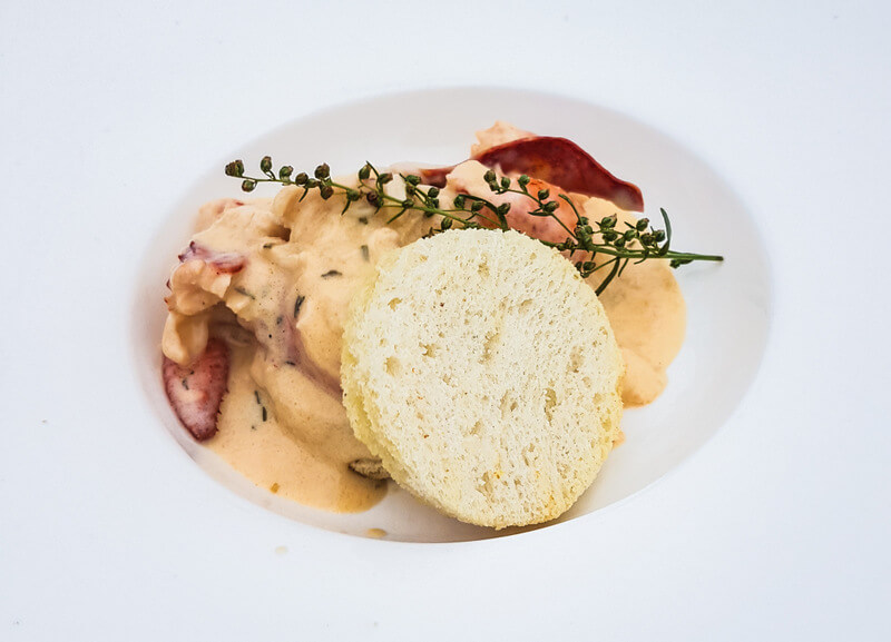 Cream Lobster with Cognac at White Point, Nova Scotia