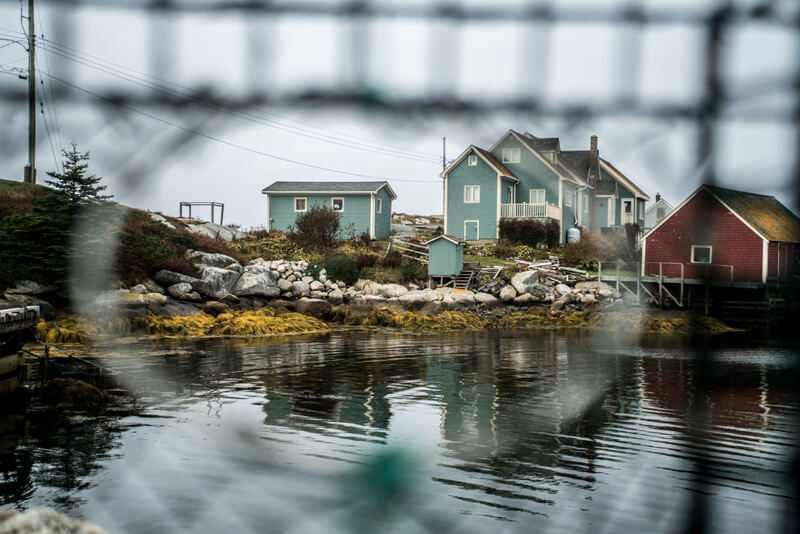 Charm at the fishing vilalge next to Peggy's Cove Lighthouse