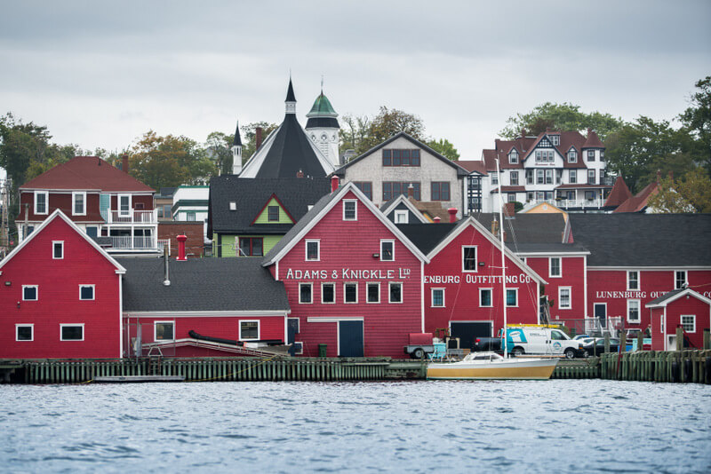 View of the town of Lunenburg in Nova Scotia