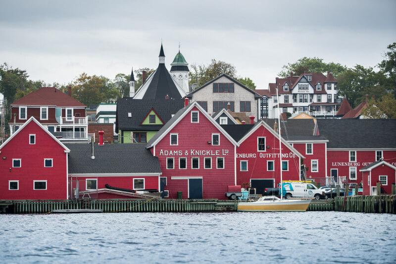 View of the town of Lunenburg in Nova Scotia