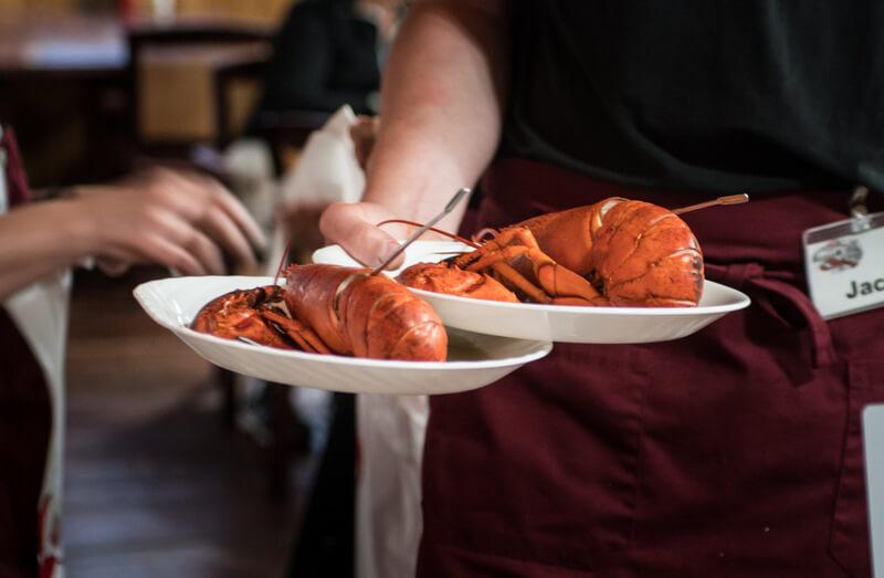 Lobsters in restaurants of Nova Scotia
