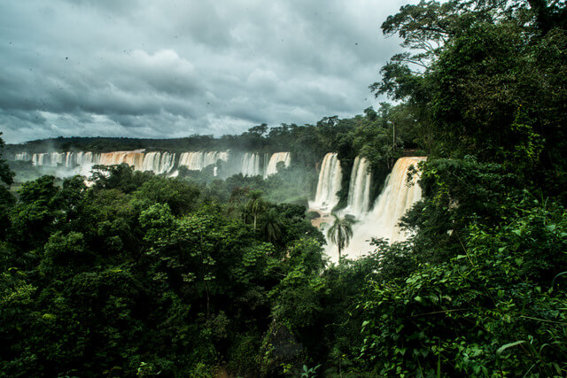 View of the Iguazu Falls from the Argentinean side