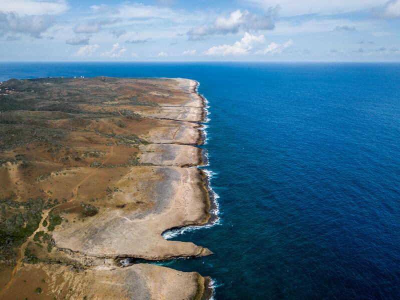Aerial view of Shete Boka National Park