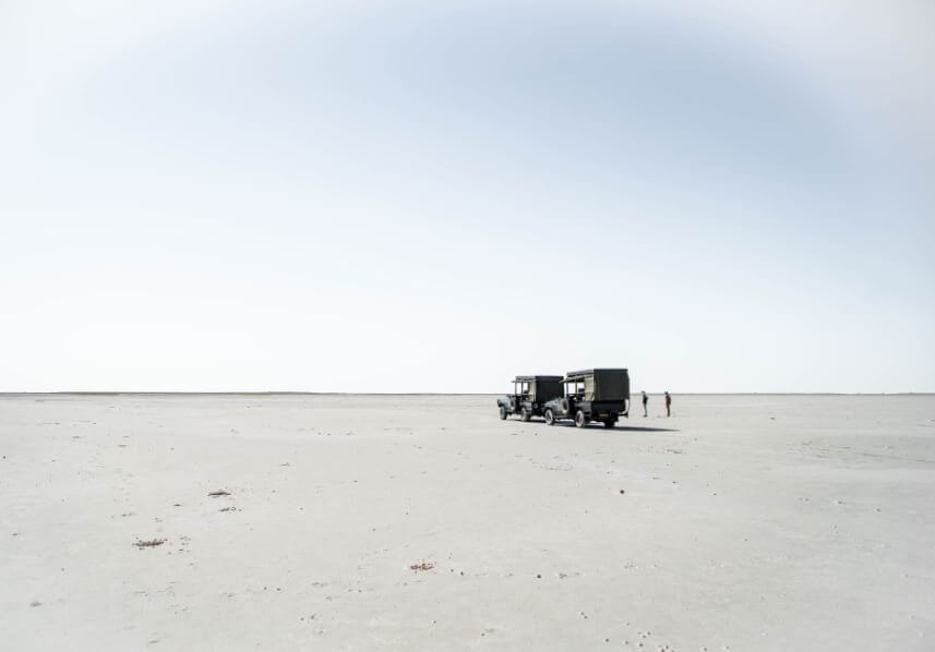 The salt flats of Nxai Pan National Park