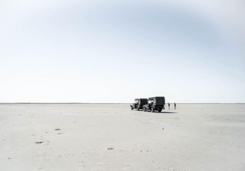 The salt flats of Nxai Pan National Park