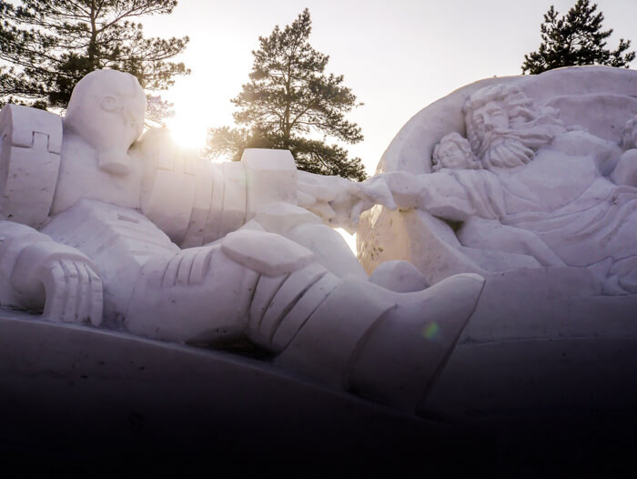 Beautiful sculptures at the Sun Island International Snow Sculpture Art Expo in Harbin