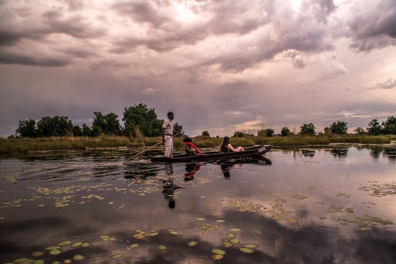 Travelers can tour through the rivers of the delta - okavango Delta Botswana