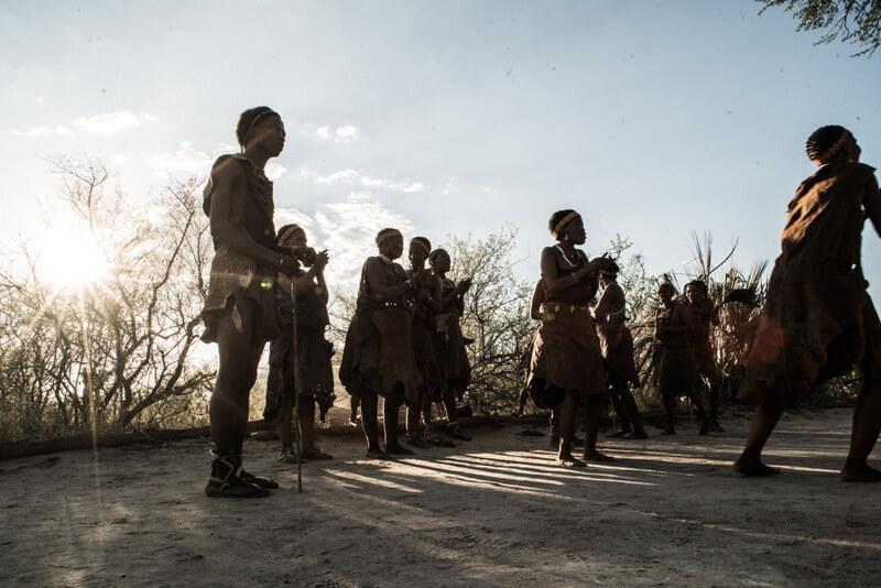 San Bushmen dancing at Kalahari Camp in Bostwana