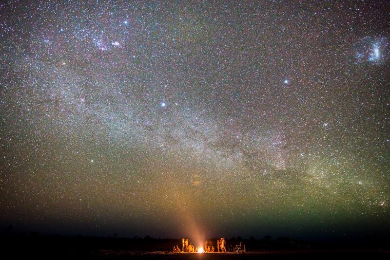 The Trance of the Bushmen under a starry sky