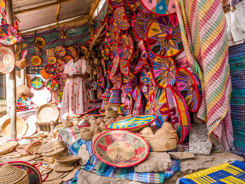 handcraft markets in Ethiopia