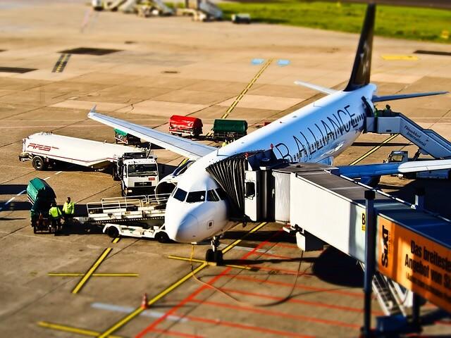 Flight before departing