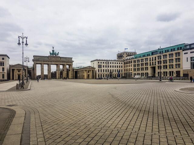 Brandenburg Gate empty Berlin