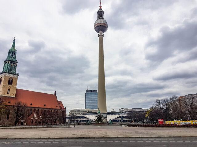 Alexanderplatz during corona