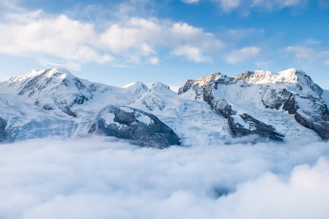 """View of the Alps from the """"top of the world"""""""