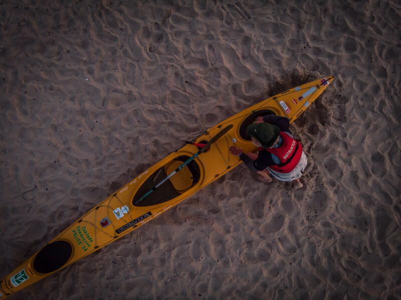 Alesander Doba crossed the ocean on a kayak