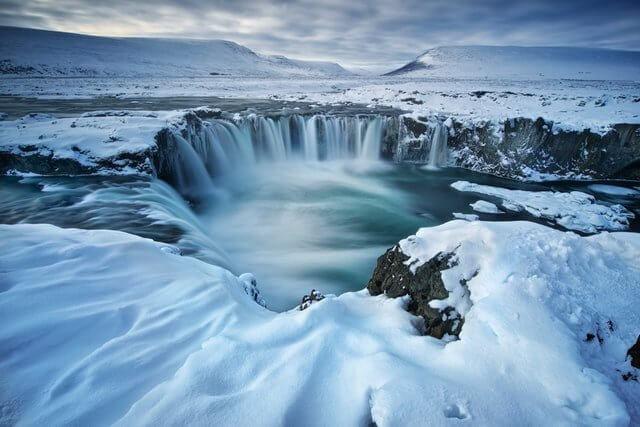Iceland Waterfalls in WInter