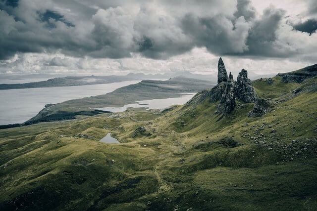 Old Man of Storr is one of the most photographed places in Skye