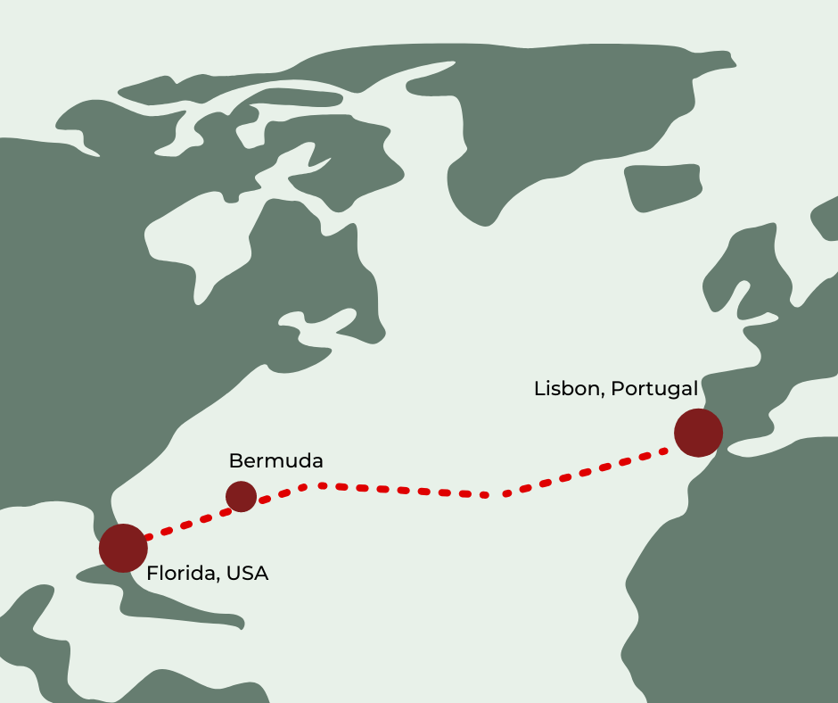 Aleksander Doba second expedition from Portugal to Florida in 2014