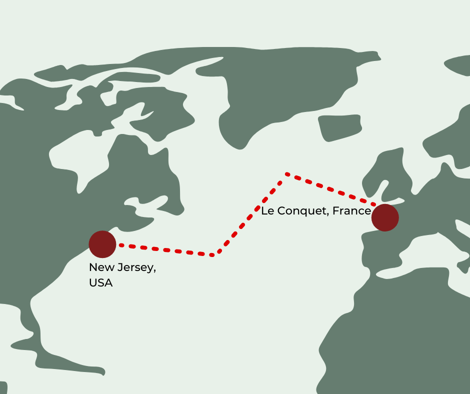 Aleksander Doba third expedition from New Jersey to France in 2017