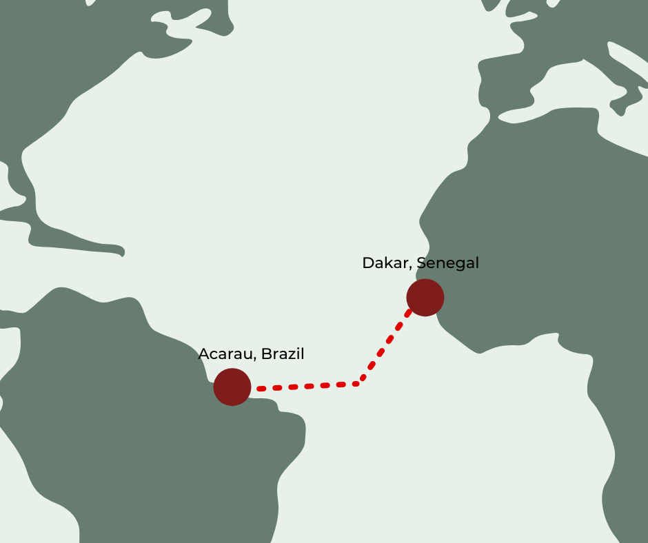 Aleksander Doba first expedition from Senegal to Brazil in 2010