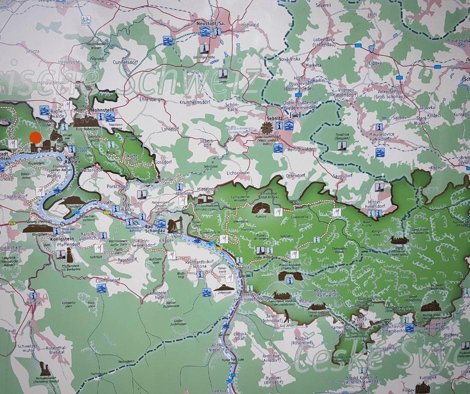 Map of Saxon Switzerland National Park
