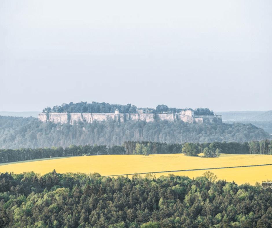 View of the Königstein Festung from Bastei Bridge