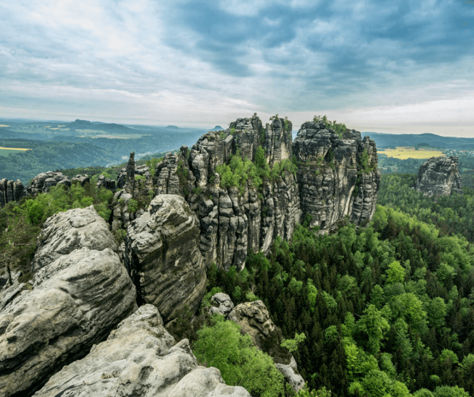 View from the top of the Schrammsteine