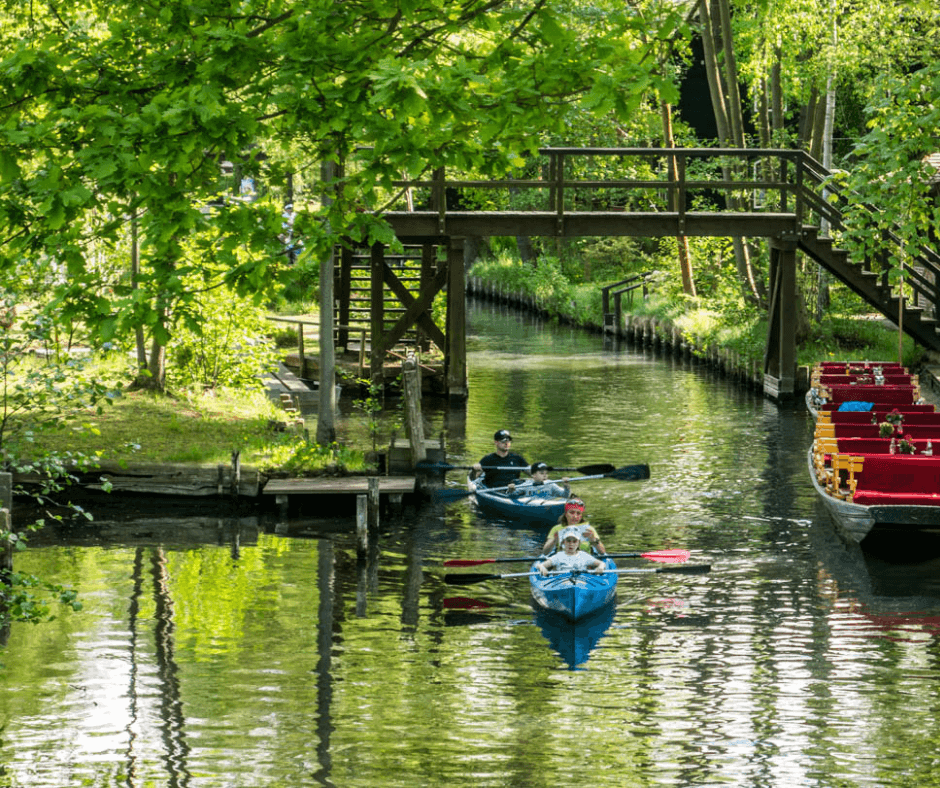 Renting a kayak in Spreewald