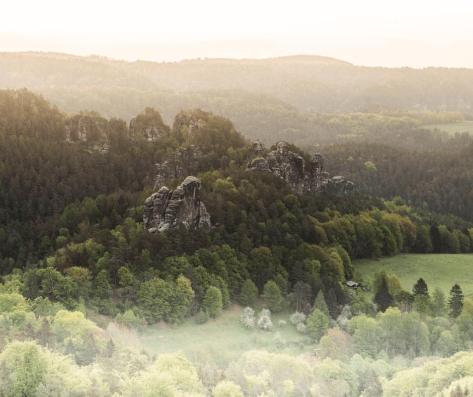 Morning views in Saxon Switzerland