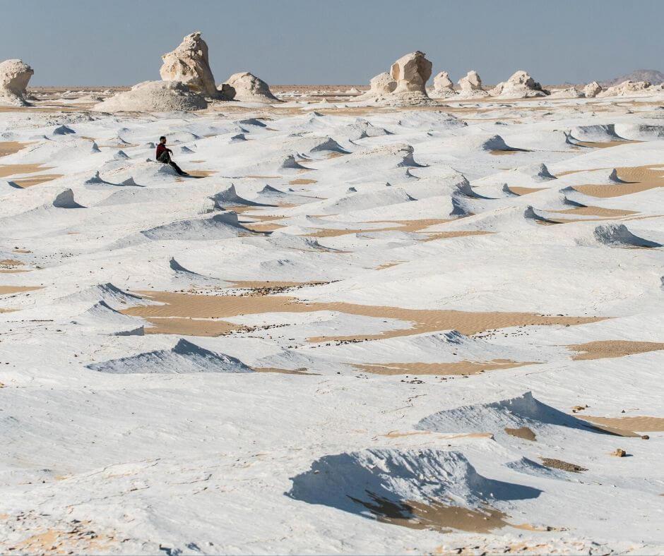 Limestone formations white desert