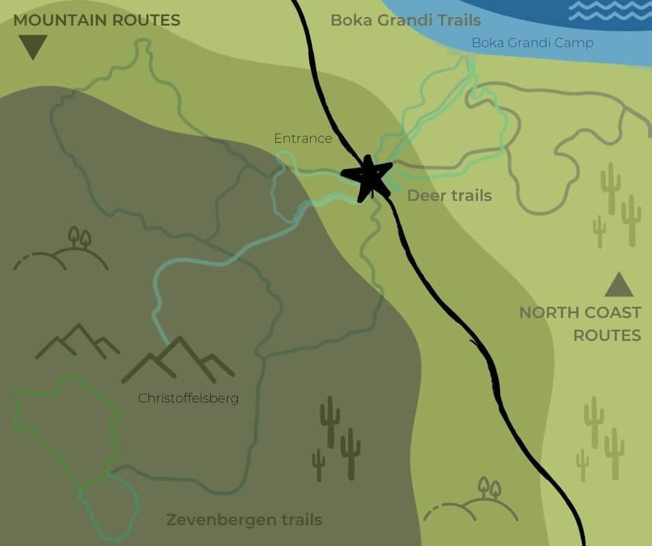 National Park-Christoffel - Park Map