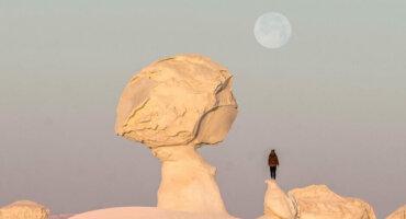 Mushroom Sunset White Desert Egypt