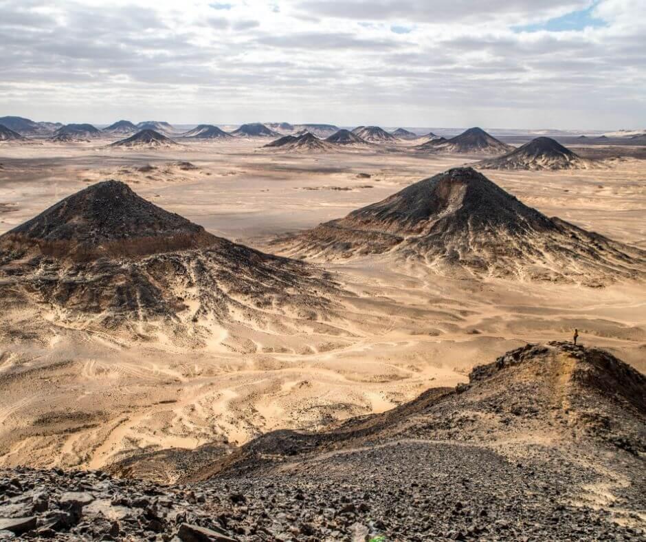 Mountain Views at the black desert - White-Desert-Egypt