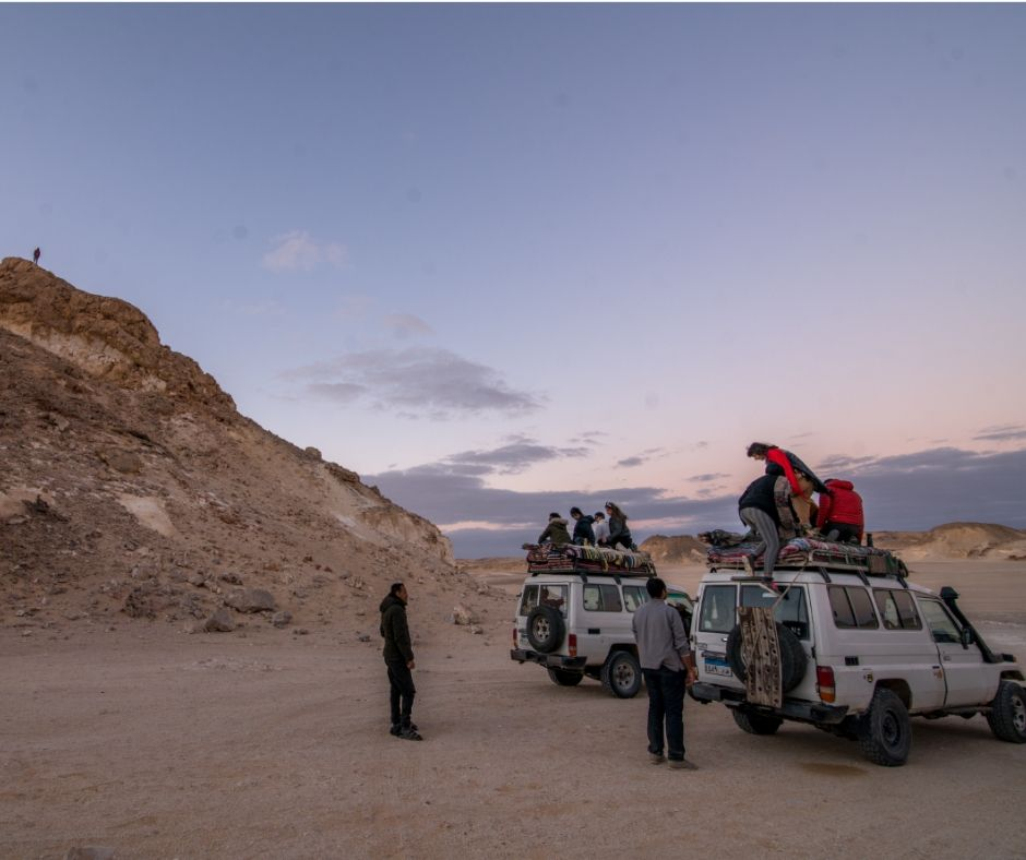Our group at the Western Desert