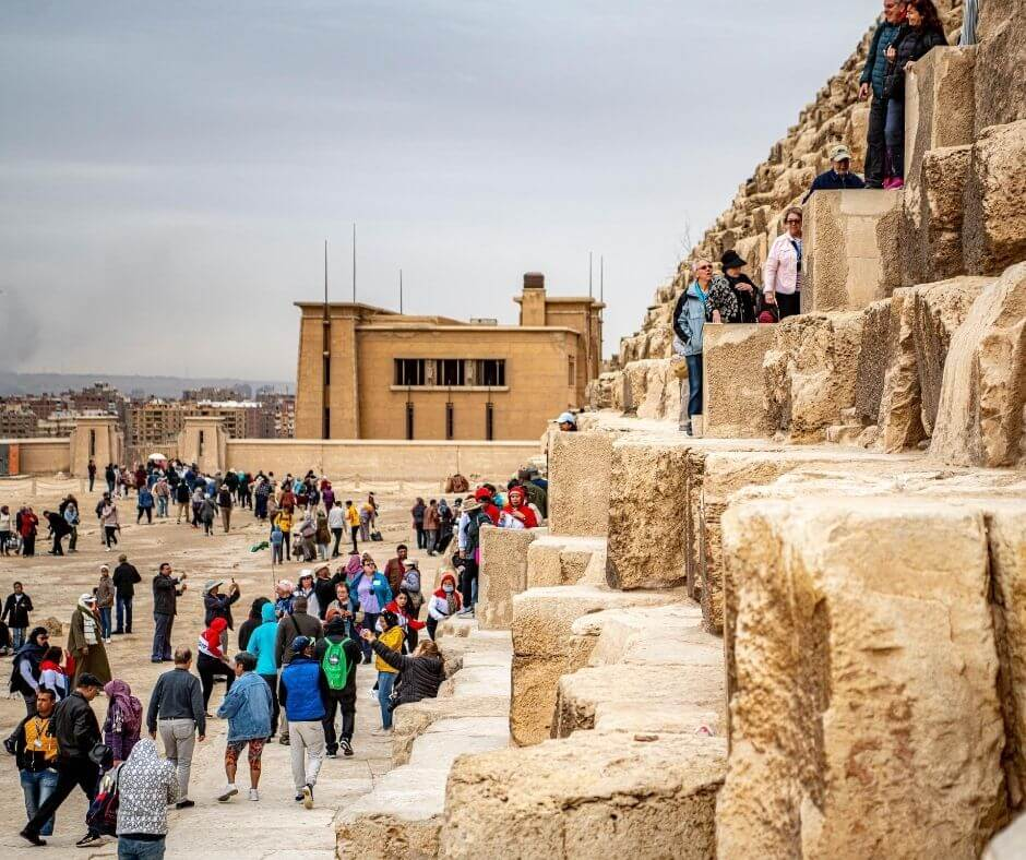 Crowds at the pyramids of Egypt