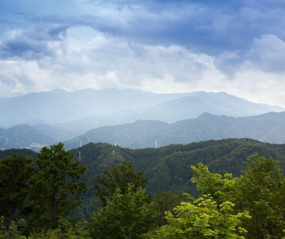 Views at Mount Takao - Hiking outside Tokyo