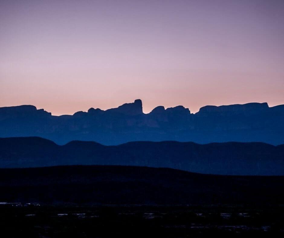 Background landscapes at BigBend National Park