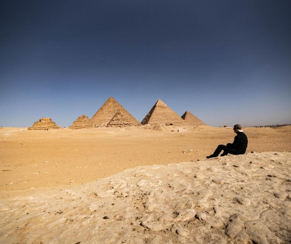 9 pyramids viewpoint in Egypt